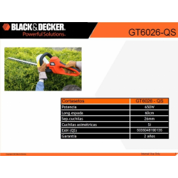 Gt6026 Recortasetos 650w 60cm 26mm