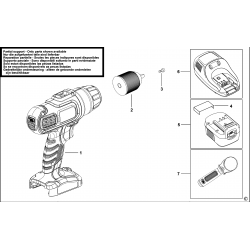 BD188F4 Type H1 C'LESS DRILL/DRIVER