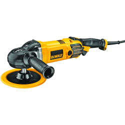 DWP849X VARIABLE SPEED POLISHER WITH SOFT START; 1250w; 150-180mm; 0-600/3500rpm; M14; 3,0Kg