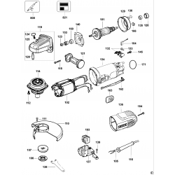D28187 Type 1 Small Angle Grinder